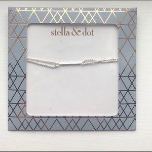 Stella & Dot Silver Pave Wishing Bracelet